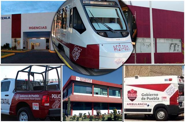 Pintan de Morena a clínicas, tren y hasta alcaldías en Puebla