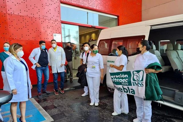Personal del IMSS San José llega a la CDMX para atacar COVID