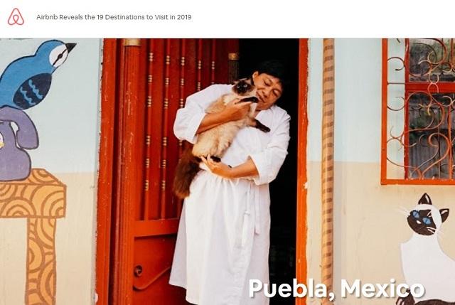 Airbnb: Puebla, el tercer destino más atractivo para viajar en 2019