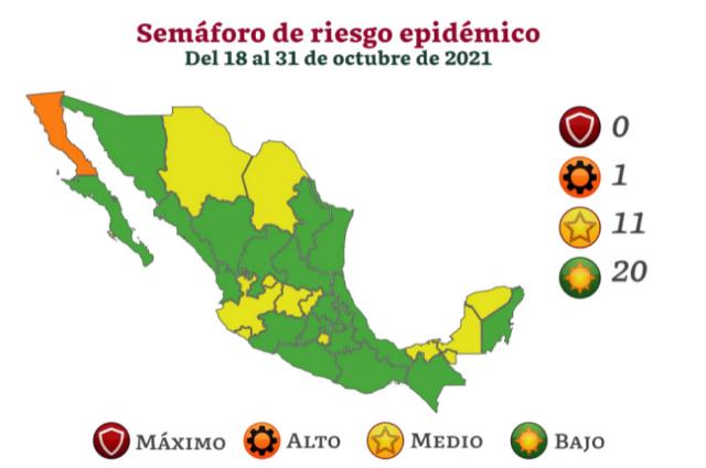 Puebla pasa a semáforo verde aunque vacunación va al 65%