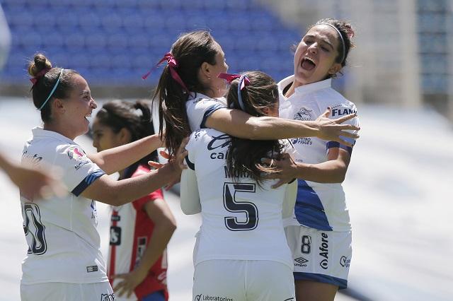 Puebla Femenil consigue su primera victoria ante Atlético San Luis