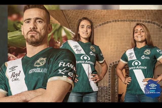 Puebla presenta nuevo jersey, homenaje a su gastronomía