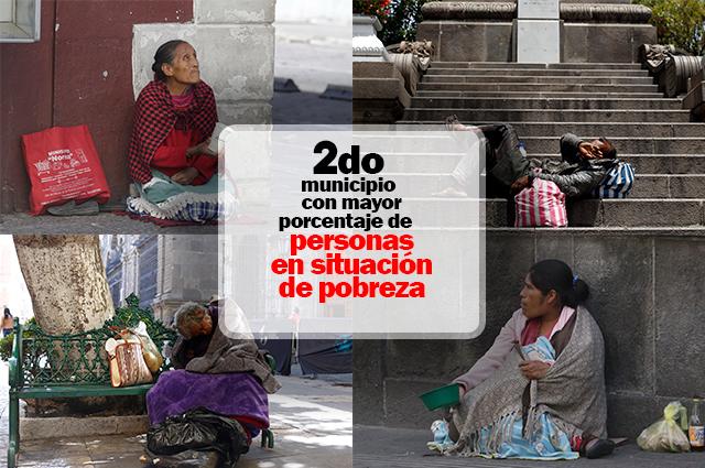 Puebla, segundo municipio con más pobres en el país