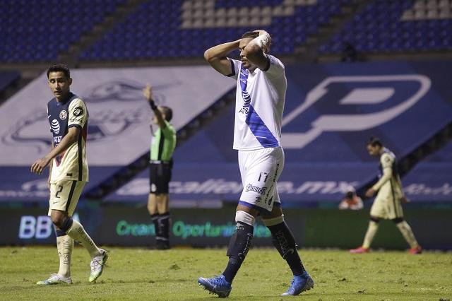 Puebla pierde ventaja de dos goles en 15 minutos y cae ante América