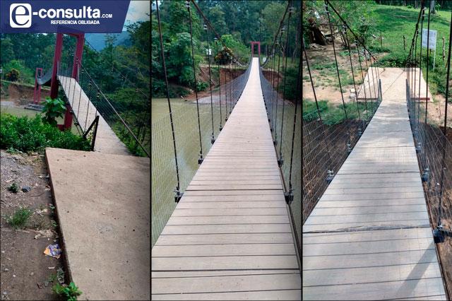 A tan solo 4 meses puente de 6.5 mdp ya muestra deterioro