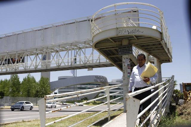 No habrá puentes peatonales en cruces de riesgo: ayuntamiento