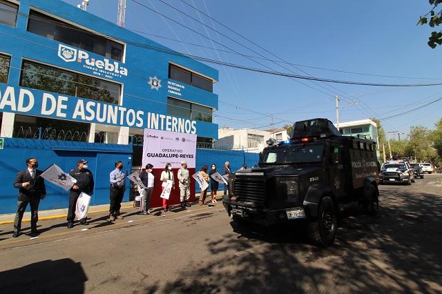 Operativo Guadalupe-Reyes en Puebla capital con 1,800 agentes