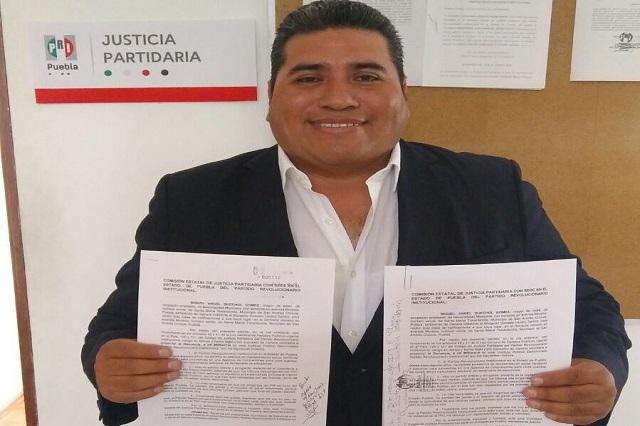 Miguel Ángel Quechol renuncia al PRI y busca alcaldía de San Andrés