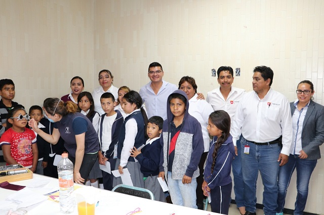 Realizan jornada 'Ver bien para aprender mejor' en Quecholac