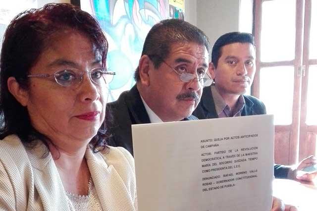 Por actos anticipados de campaña denuncia PRD a RMV ante el INE