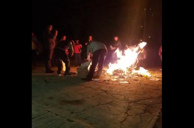 Cancelan elección en la Romero Vargas por quema de urnas