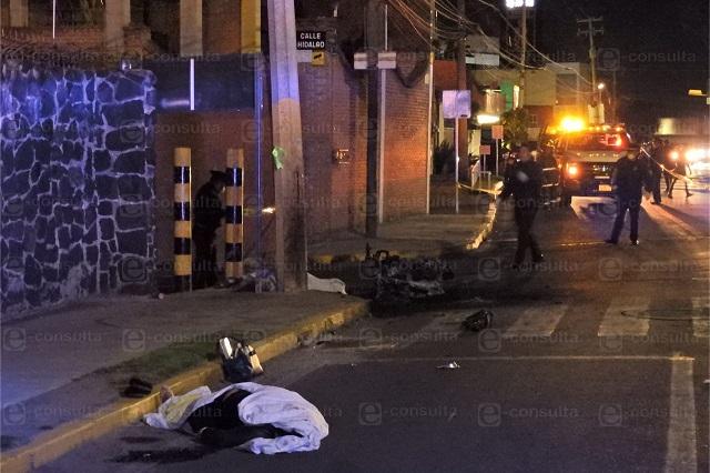 Se queman motociclistas tras ser atropellados en Zavaleta