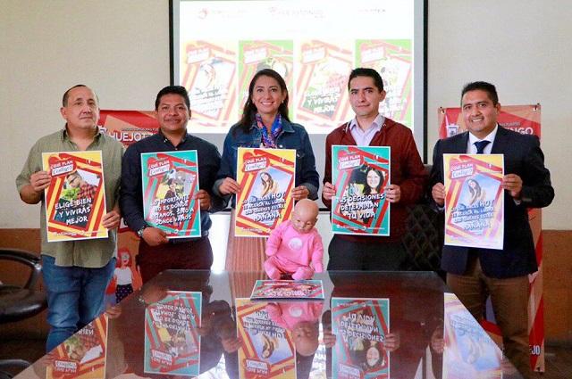 Angélica Alvarado juárez presenta en Huejotzingo programa ¿Qué plan contigo?