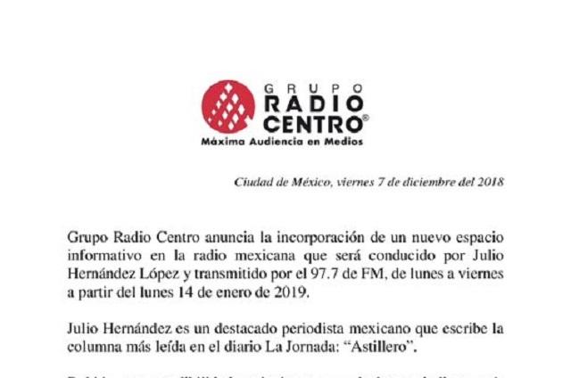 Sin Loret de Mola, llaman a estación la radio oficial del nuevo gobierno