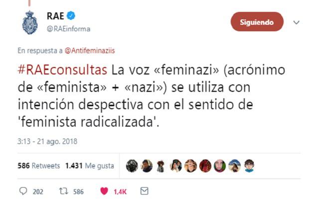 La RAE definió el término feminazi y las redes explotaron