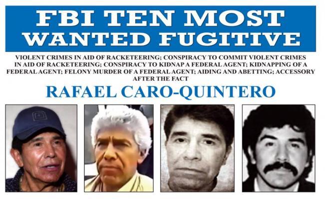 FBI incluye a Caro Quintero en lista de los 10 más buscados