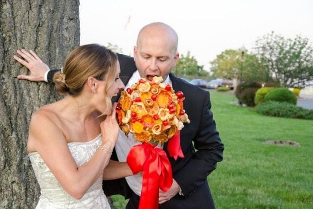 Ramos de pizza, la última moda para bodas
