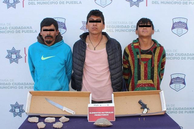 Desarticulan en Puebla  a banda Los Ramoncitos, de robo a transeúnte