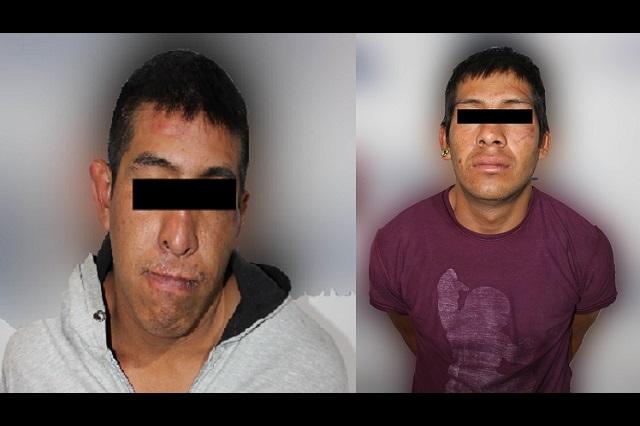 Detienen policías de Puebla a tres hombres por robo a Ruta Azteca