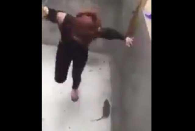 VIDEO. Tremendo susto y épica batalla de una chica con una rata se viraliza
