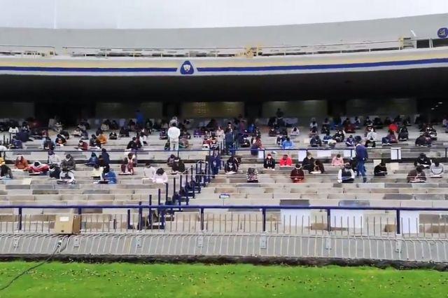 Aplica UNAM examen de admisión en el Estadio Universitario