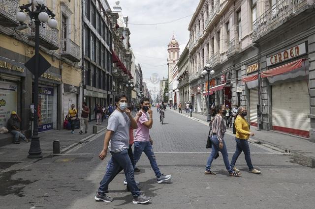 Empresarios exigen reabrir calles del Centro de Puebla