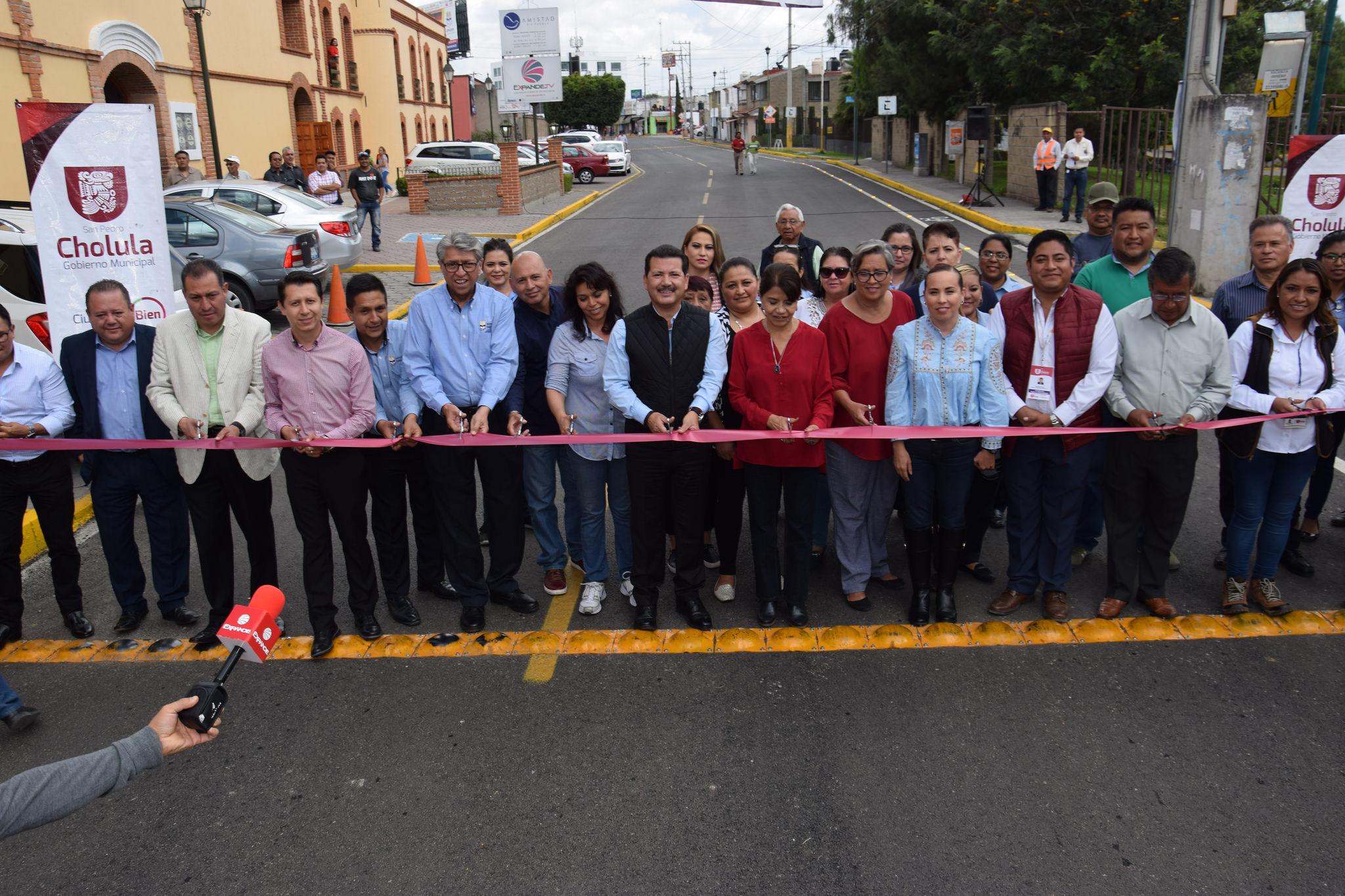 A juntas auxiliares de San Pedro Cholula, obras por más de 76 mdp