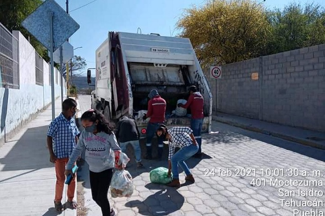 Se niegan a pagar por recolección de basura en Tehuacán