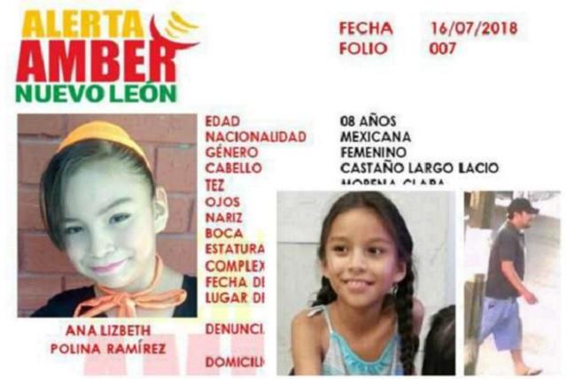 Ofrecen 500 mil pesos de recompensa por el asesino de la niña Ana Lizbeth