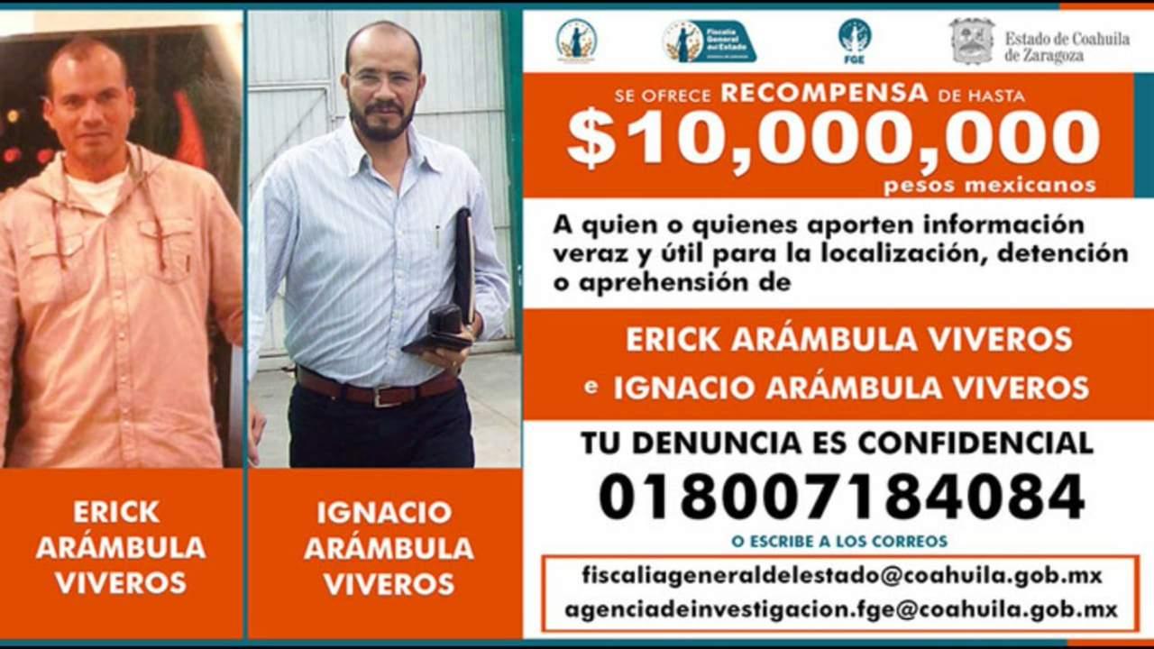 Coahuila ofrece recompensa de 10 mdp por los asesinos de Fernando Purón