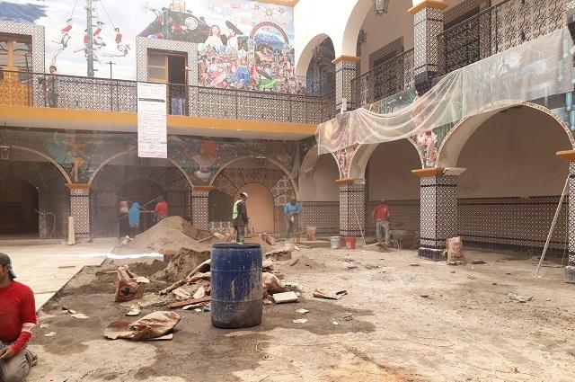 Pese a contingencia, continua restauración de edificios en Atlixco