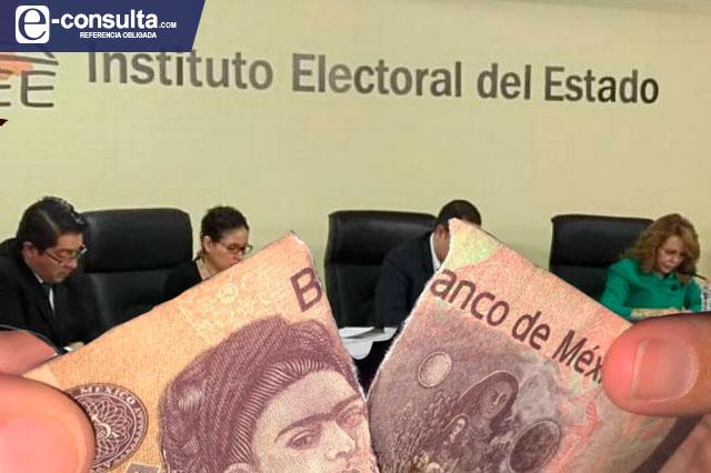 Recortará IEE dinero a partidos para dar 1.3 mdp al nuevo PES