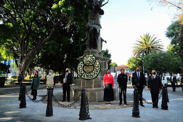 Recuerdan en Puebla capital el natalicio de Nicolás Bravo