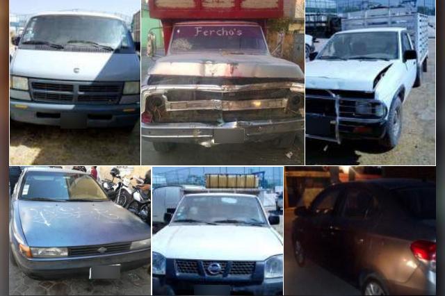 Policía Estatal recuperó 10 vehículos y dos remolques con reporte de robo