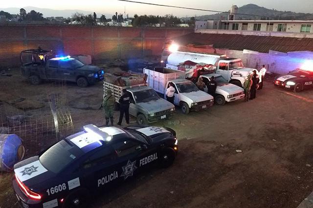 Ahora recuperan 7 mil litros de gasolina robada en Texmelucan