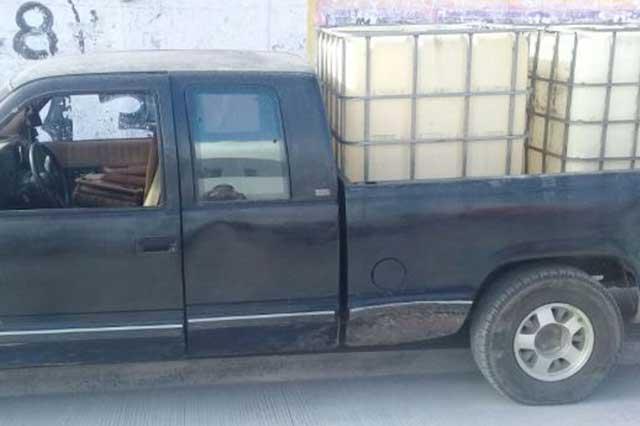 Policía Estatal recuperó cinco camionetas y una caja seca