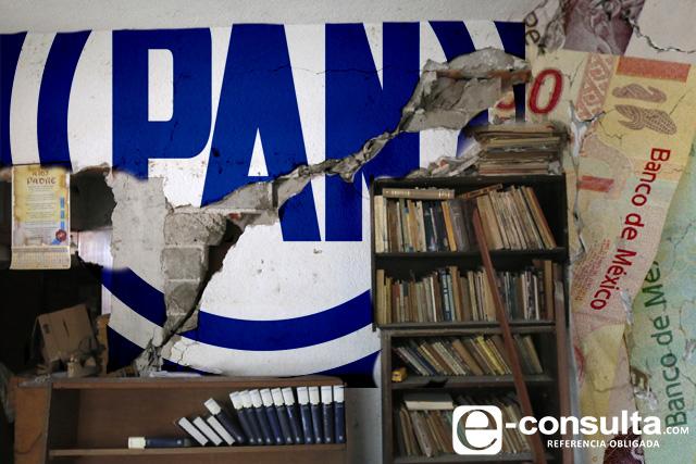 Panistas se llevan la mitad de recursos para reconstrucción