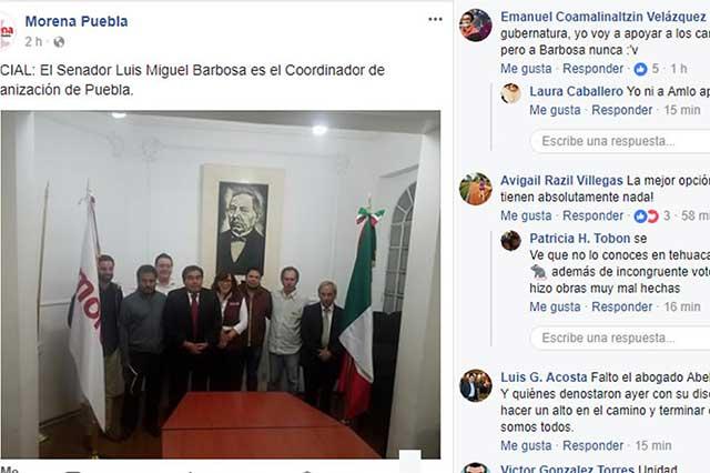 Reaccionan redes sociales de Morena a designación de Barbosa