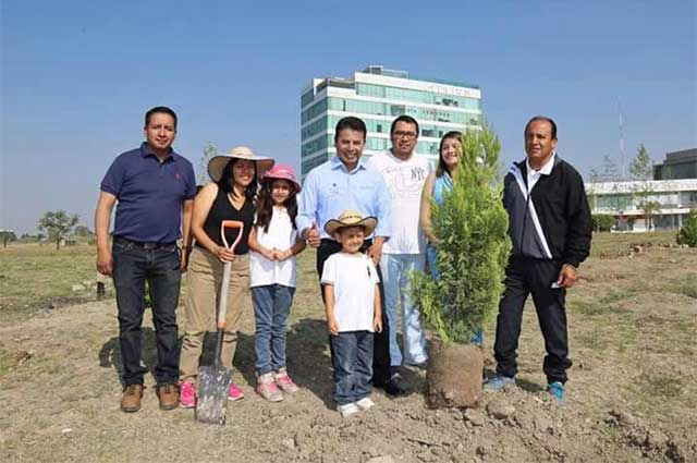 Reforesta San Andrés Cholula la zona de Ciudad Judicial