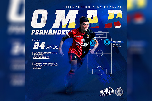 Llega refuerzo ofensivo colombiano al Club Puebla