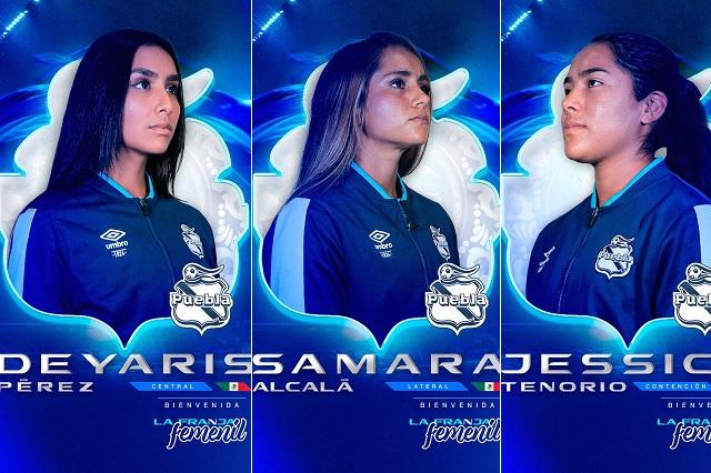 Puebla Femenil anuncia a sus primeros tres refuerzos