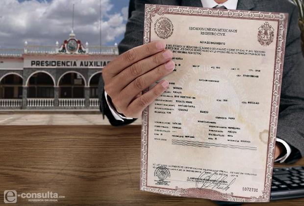 RMV plantea regreso de registro civil a juntas auxiliares