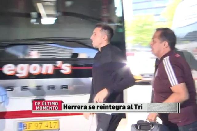 ¿Lo perdonó su esposa? Héctor Herrera regresa contento con el Tri