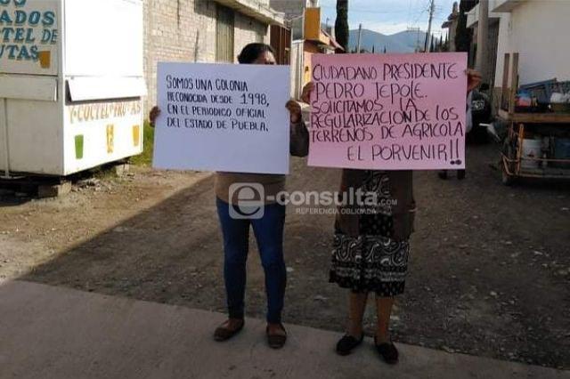 Acusan intento de despojo de predios en Tehuacán