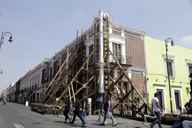 Ayuntamiento de Puebla debe 5 mdp por inmuebles apuntalados