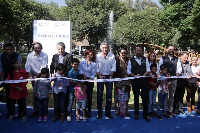 Entregan Gali y Banck Parque Juárez renovado con 50 mdp