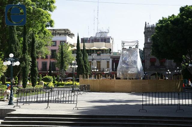 Cierran el zócalo de Puebla por nuevo decreto por covid