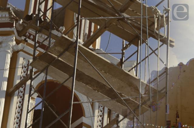 Por fin arreglarán templo de Ixcaquixtla dañado por sismo en 2017