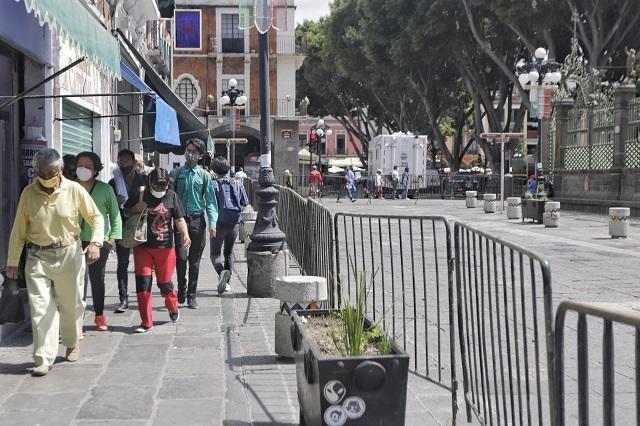 Cierran el Centro y fijan horario a comercios para El Grito en Puebla