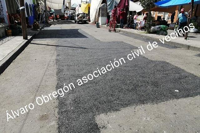 """""""Relaminación en zona del tianguis no cuesta 2 mdp"""", argumentan vecinos"""